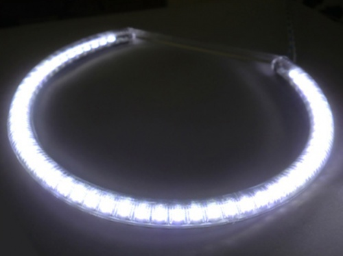 Coppia Angel Eyes Anello Led Semicerchio Diametro 146mm