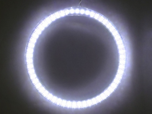 Coppia Angel Eyes Ring Anello Led Diametro 80mm